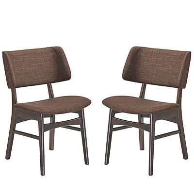 Vestige Dining Side Chair Upholstery: Mocha