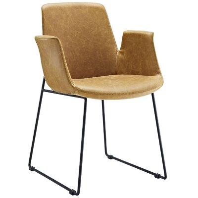 Aloft Dining Arm Chair Upholstery: Tan