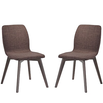 Proclaim Dining Side Chair Upholstery: Mocha