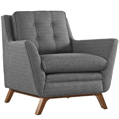 Beguile Arm Chair Upholstery: Gray