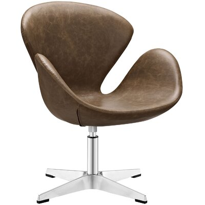 Flight Vinyl Lounge Chair Color: Brown