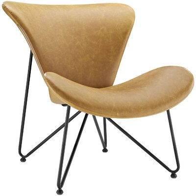 Glide Lounge Chair Color: Tan