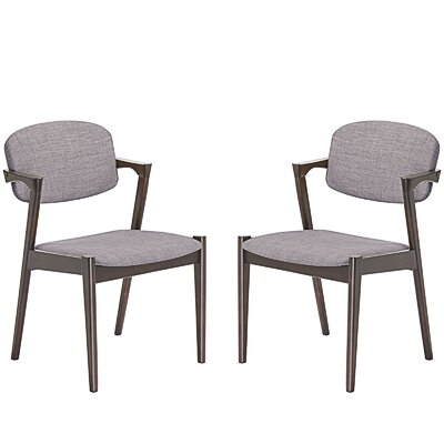 Spunk Dining Arm Chair Upholstery: Gray