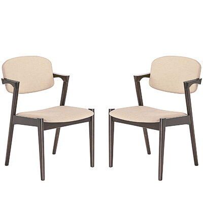 Spunk Dining Arm Chair Upholstery: Beige