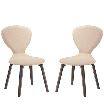 Tempest Dining Side Chair Upholstery: Beige