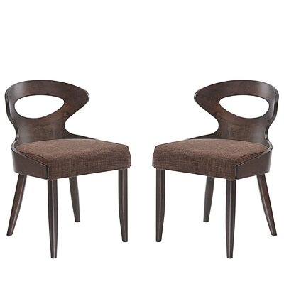 Transit Dining Side Chair Upholstery: Brown