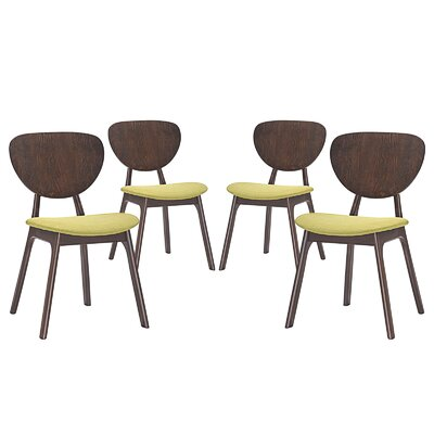 Murmur Dining Side Chair Upholstery: Green