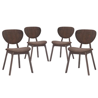 Murmur Dining Side Chair Upholstery: Brown