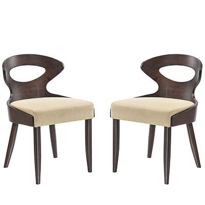 Transit Dining Side Chair Upholstery: Beige