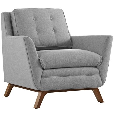 Beguile Arm Chair Upholstery: Expectation Gray