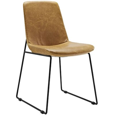 Invite Dining Vinyl Side Chair Upholstery: Tan