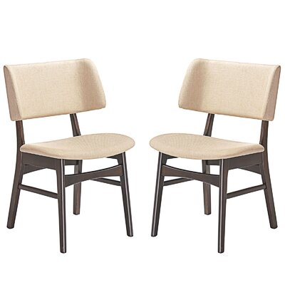 Vestige Dining Side Chair Upholstery: Beige