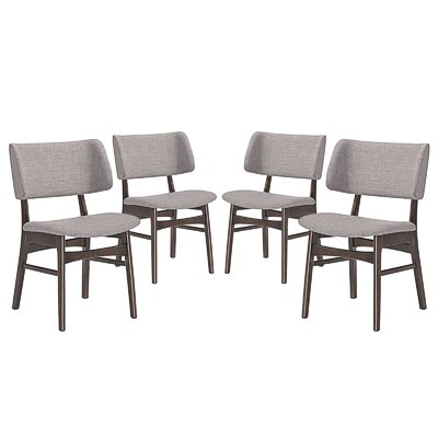 Vestige Dining Side Chair Upholstery: Gray
