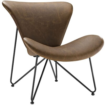 Glide Lounge Chair Color: Brown