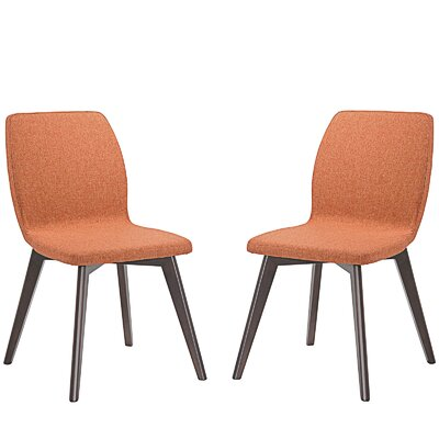 Proclaim Dining Side Chair Upholstery: Orange