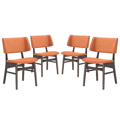 Vestige Dining Side Chair Upholstery: Orange