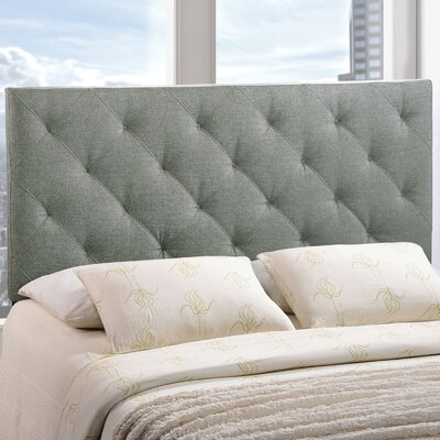 Theodore Upholstered Panel Headboard Upholstery: Gray, Size: Twin