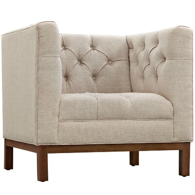 Panache Armchair Upholstery: Beige