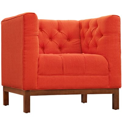 Panache Arm Chair Color: Atomic Red