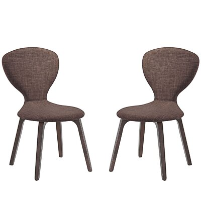 Tempest Dining Side Chair Upholstery: Brown