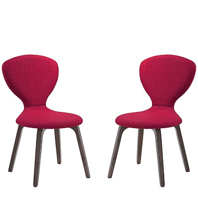 Tempest Dining Side Chair Upholstery: Red