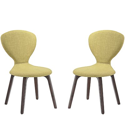 Tempest Dining Side Chair Upholstery: Green