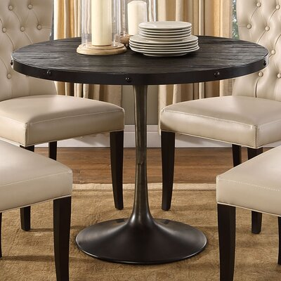 Omarion Industrial Dining Table Finish: Black