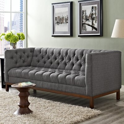 Panache Chesterfield Sofa Upholstery: Gray