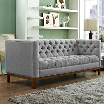 Panache Chesterfield Sofa Upholstery: Expectation Gray