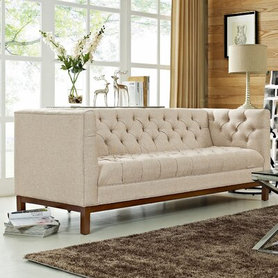Panache Chesterfield Sofa Upholstery: Beige