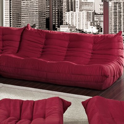 Waverunner Sofa Upholstery: Red