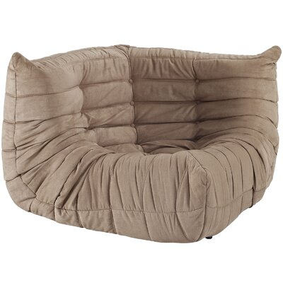 Waverunner Corner Loveseat Upholstery: Brown