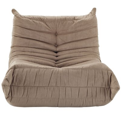 Waverunner Bean Bag Chair Upholstery: Brown