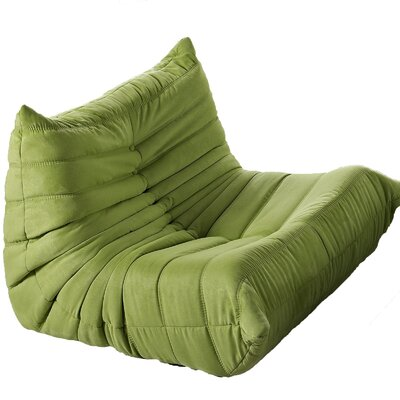 Waverunner Bean Bag Chair Upholstery: Green