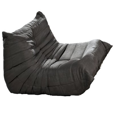 Waverunner Bean Bag Chair Upholstery: Light Gray