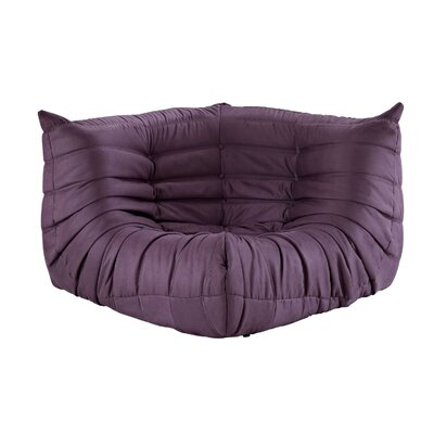 Waverunner Corner Loveseat Upholstery: Purple
