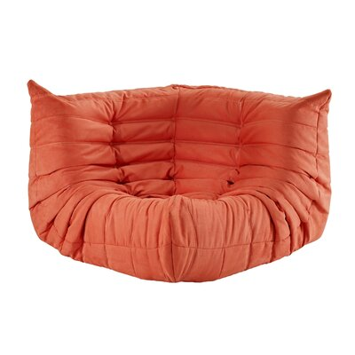 Waverunner Corner Loveseat Upholstery: Orange