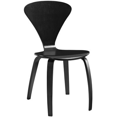 Vortex Solid Wood Dining Chair Color: Black