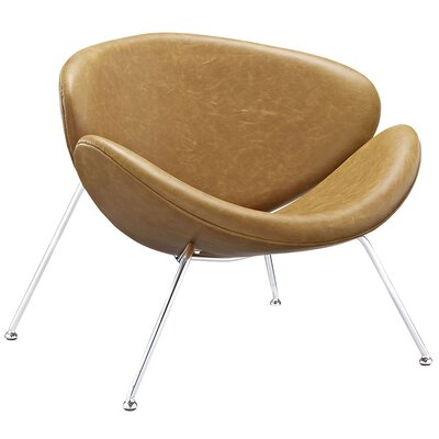 Nutshell Lounge Chair with Cushion Color: Tan