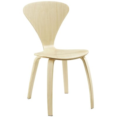 Vortex Solid Wood Dining Chair Color: Natural
