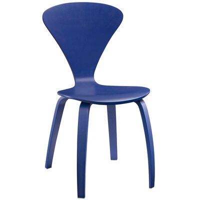 Vortex Solid Wood Dining Chair Finish: Blue