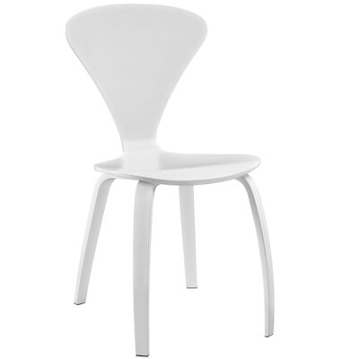 Vortex Solid Wood Dining Chair Color: White