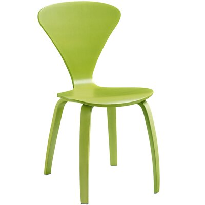 Vortex Solid Wood Dining Chair Color: Green