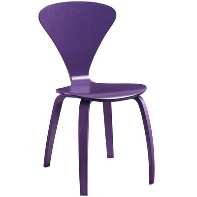 Vortex Solid Wood Dining Chair Finish: Purple