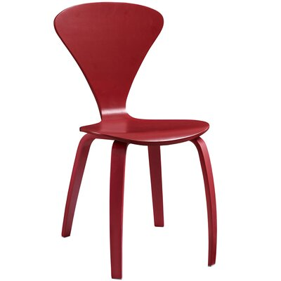 Vortex Solid Wood Dining Chair Color: Red
