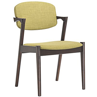 Spunk Armchair Upholstery: Walnut Green