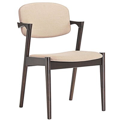Spunk Armchair Upholstery: Walnut Beige
