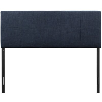 Joey Queen Upholstered Panel Headboard Upholstery: Navy
