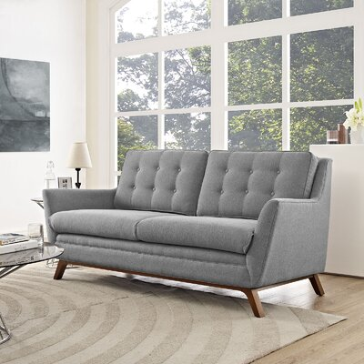 Beguile Loveseat Upholstery: Expectation Gray