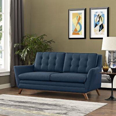 Beguile Loveseat Upholstery: Azure